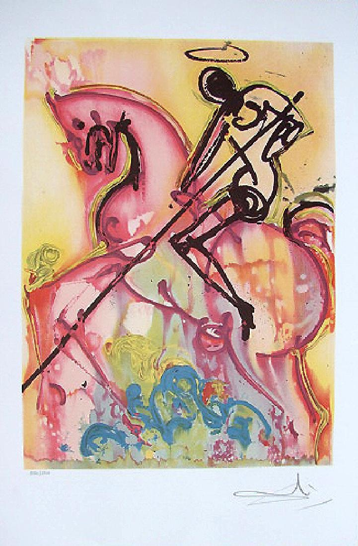 Salvador Dali Lithograph St.George Dragon