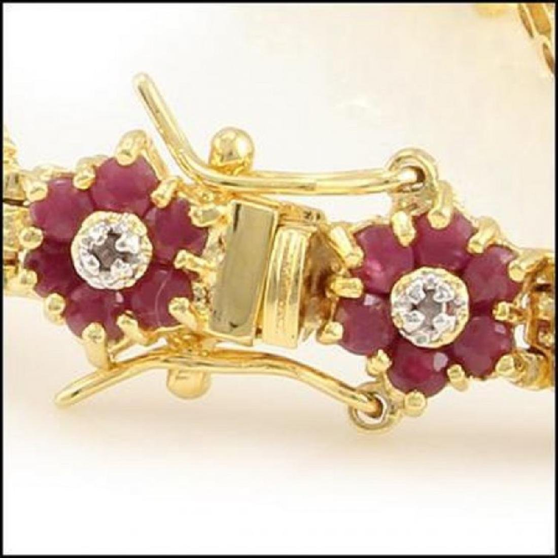 16.74 Ct Ruby & Diamond Designer Bracelet - 2