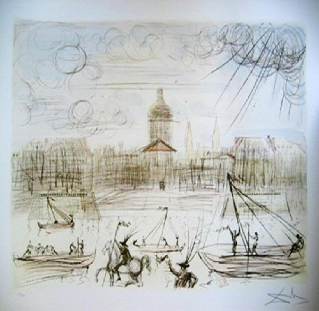 Salvador Dali Lithograph Academy de France