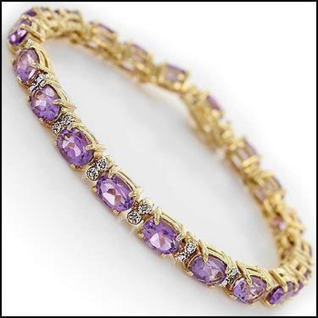 14.88 Ct Amethyst & Diamond Designer Bracelet $1,245