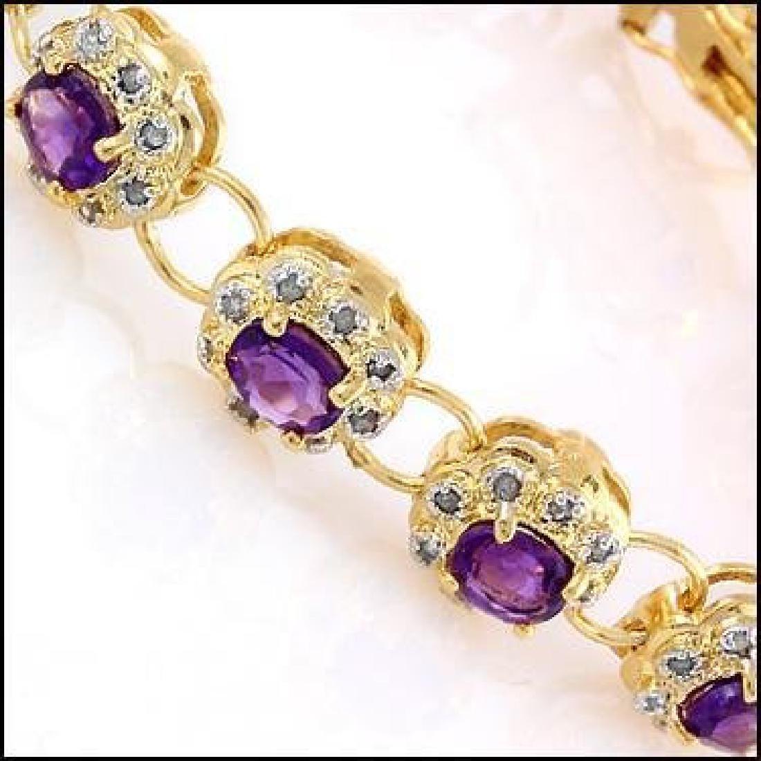 15.55 Ct Amethyst & Diamond Designer Bracelet $1,390 - 2