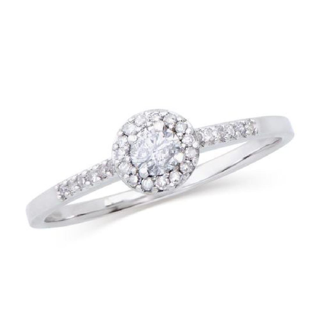 0.398 Cts Certified Diamond 14K Engagement Gold Ring