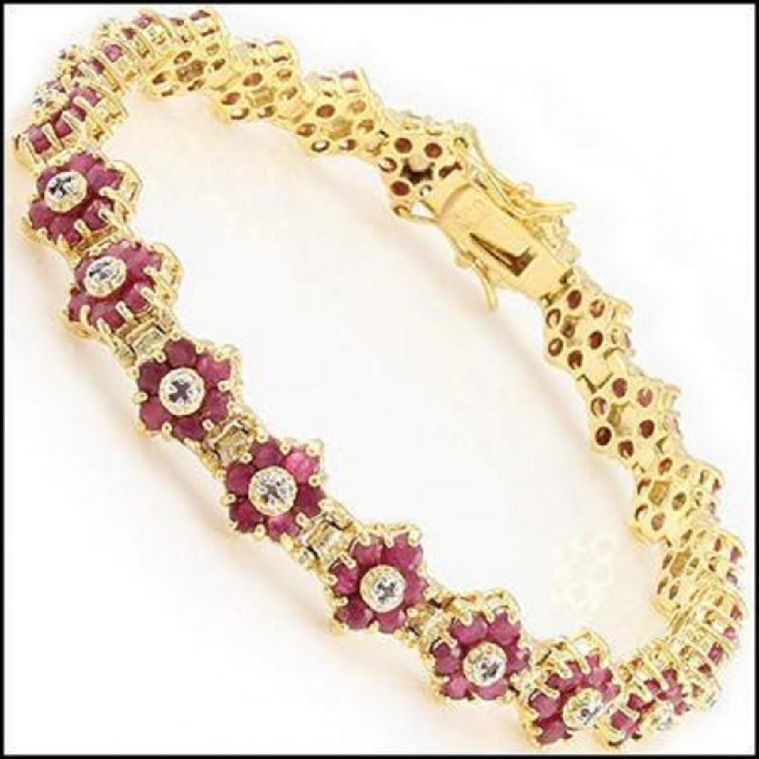 16.74 Ct Ruby & Diamond Designer Bracelet
