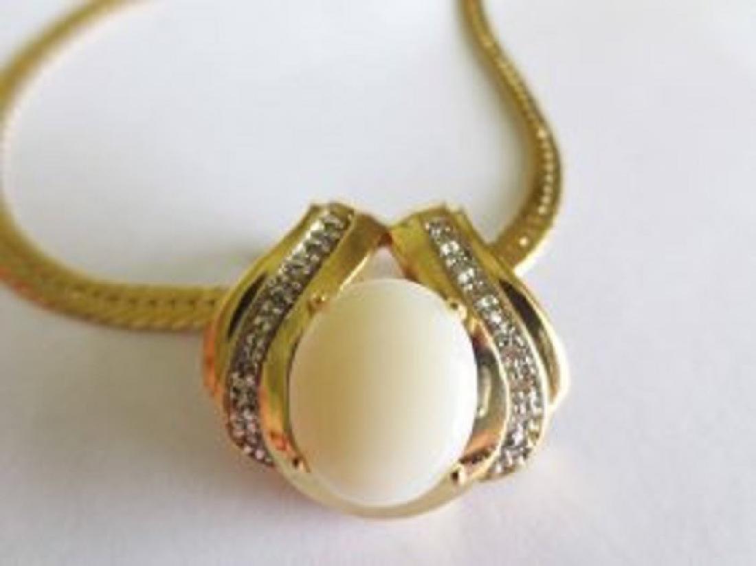 7.49 CTW Indian Opal & Diamond Designer Necklace