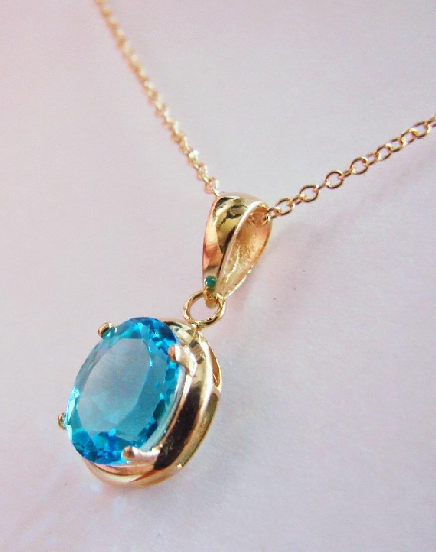 2.80 CT Blue Topaz Pendant Appraised at $2,900