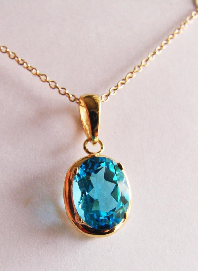 2.80 CT Blue Topaz Pendant Appraised at $2,900 - 2