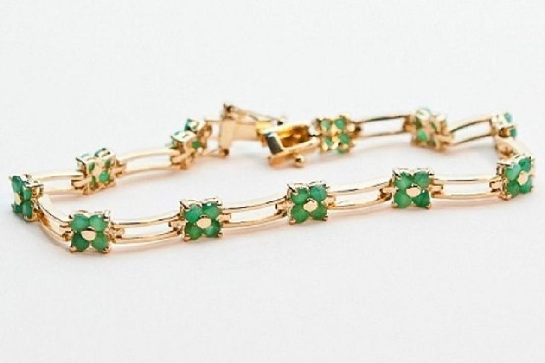 10.27 CT Green Agate Fine Designer Bracelet $880