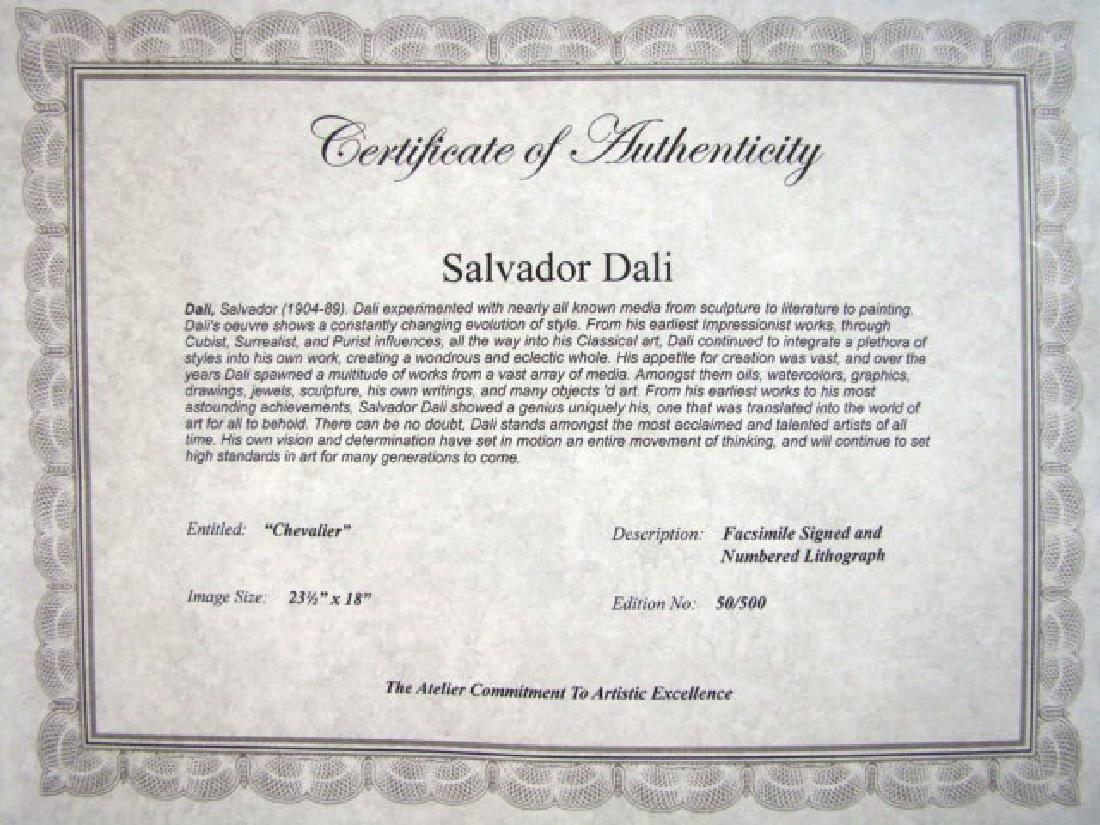 Salvador Dali Lithograph Chevalier - 2