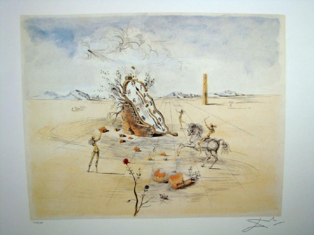 Salvador Dali Lithograph Cosmic Horseman