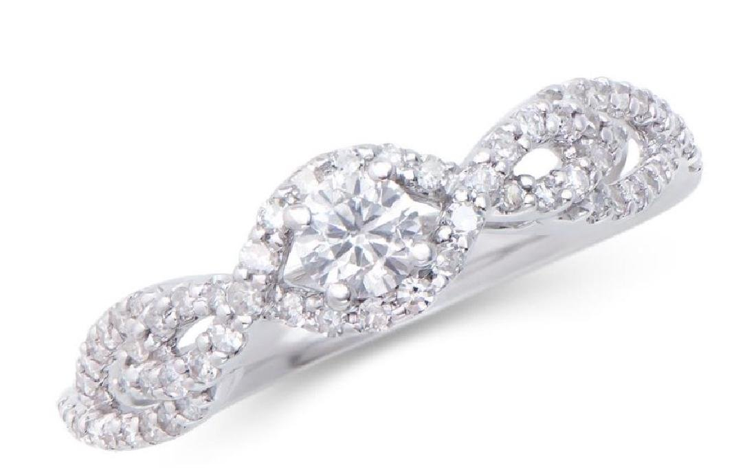 0.54 Cts Certified Diamond 14K Engagement Ring $5,699!