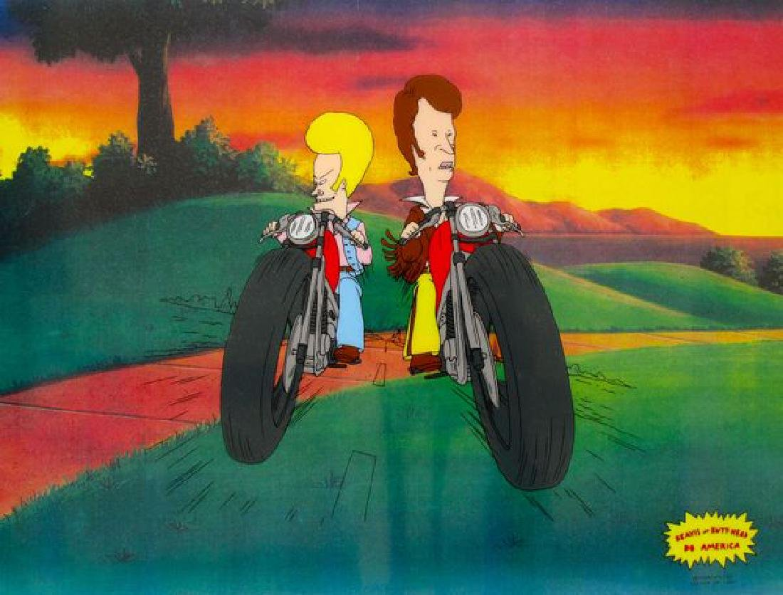 BEAVIS AND BUTTHEAD MOTORCYCLE GANG Animation Sericel
