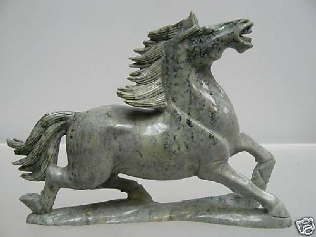 Hand Carved Solid Jade Running Horse