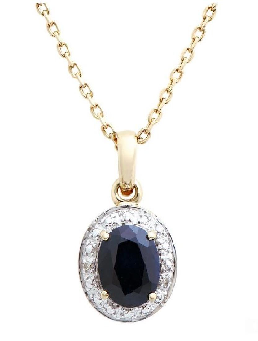 1.97 Cts Certified Sapphire & Diamond Necklace $4,011