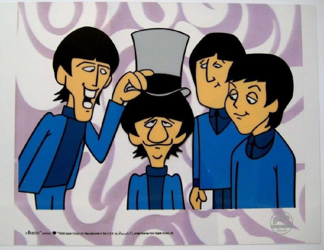 THE BEATLES RINGO TOP HAT Animation Cartoon Sericel
