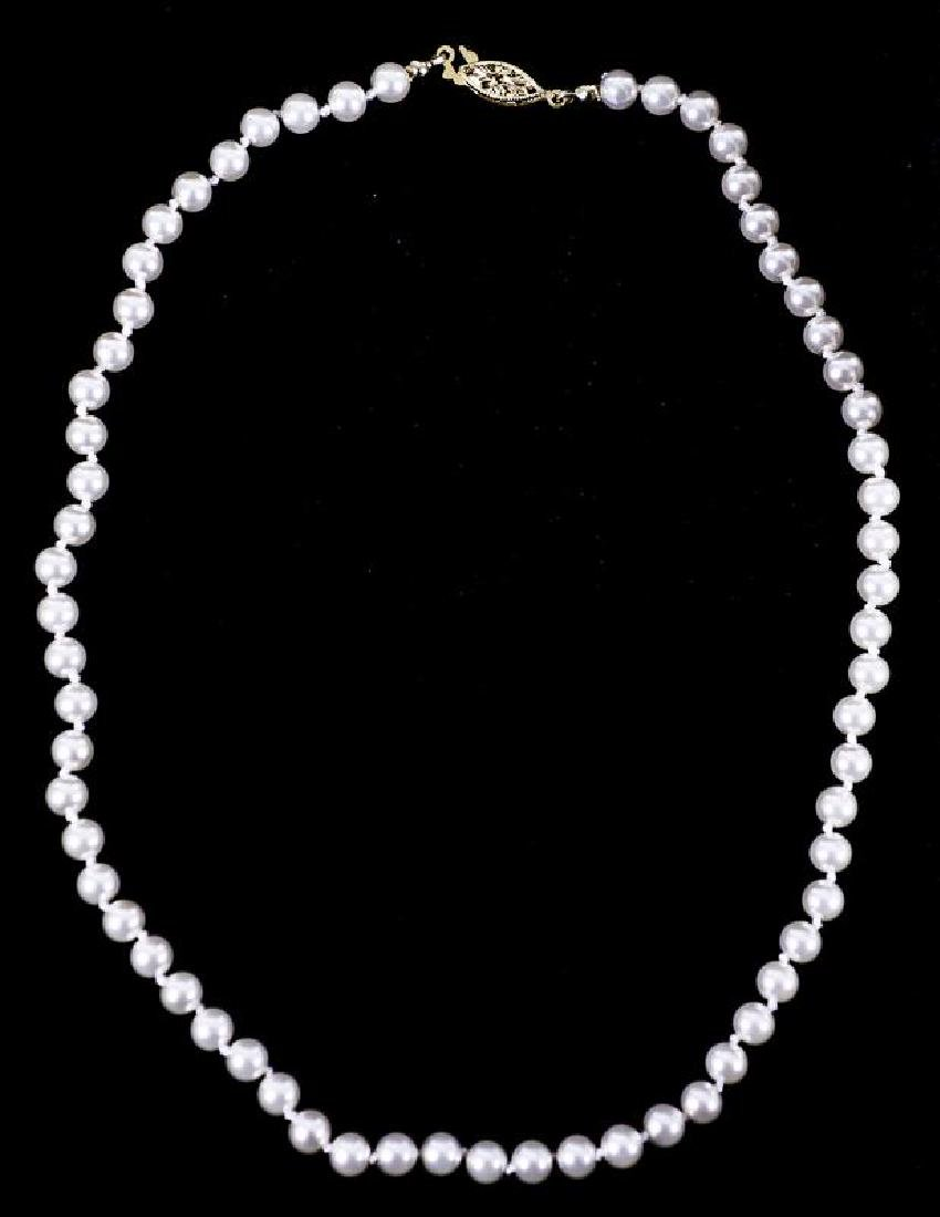 6mm White Cultured Pearl Necklace