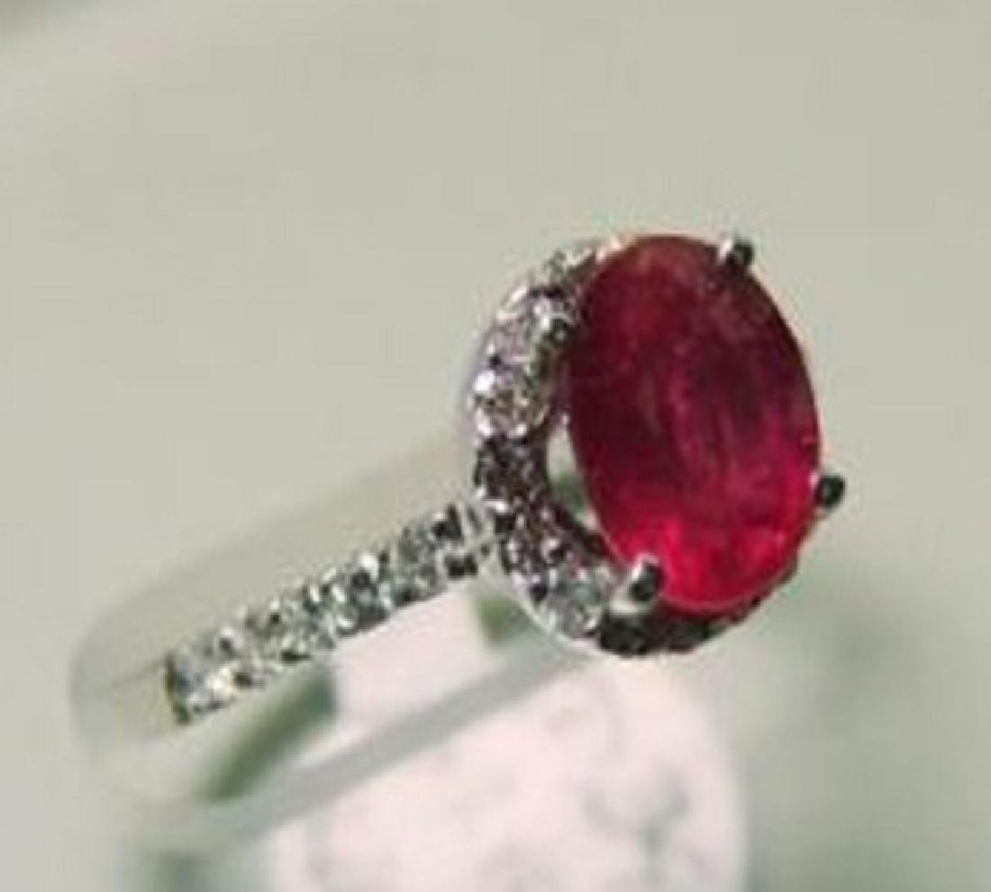 Natural Ruby and Diamond Ring Appraised $4,800 - 2