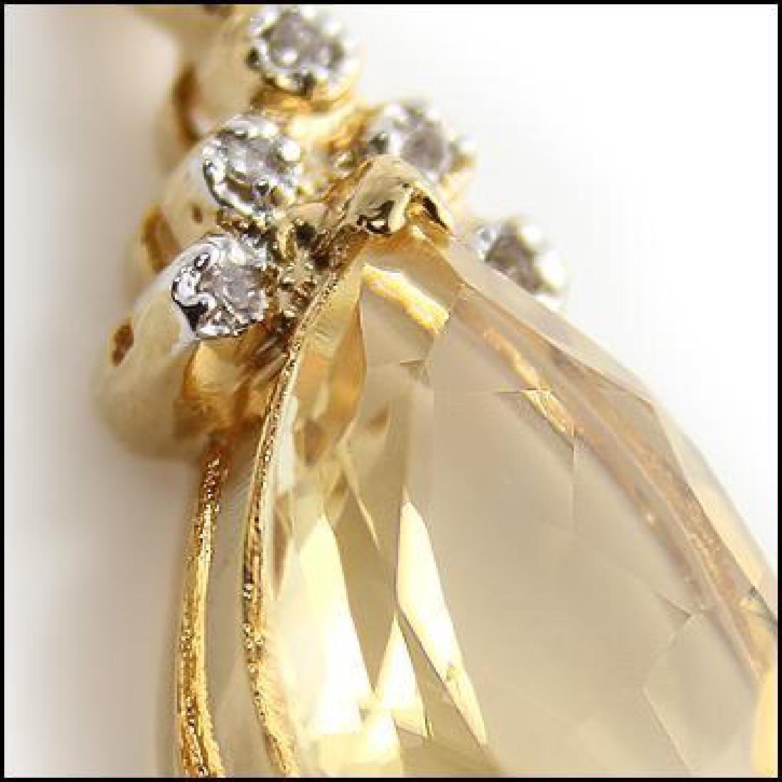 6 CT Citrine Diamond Pendant - 2