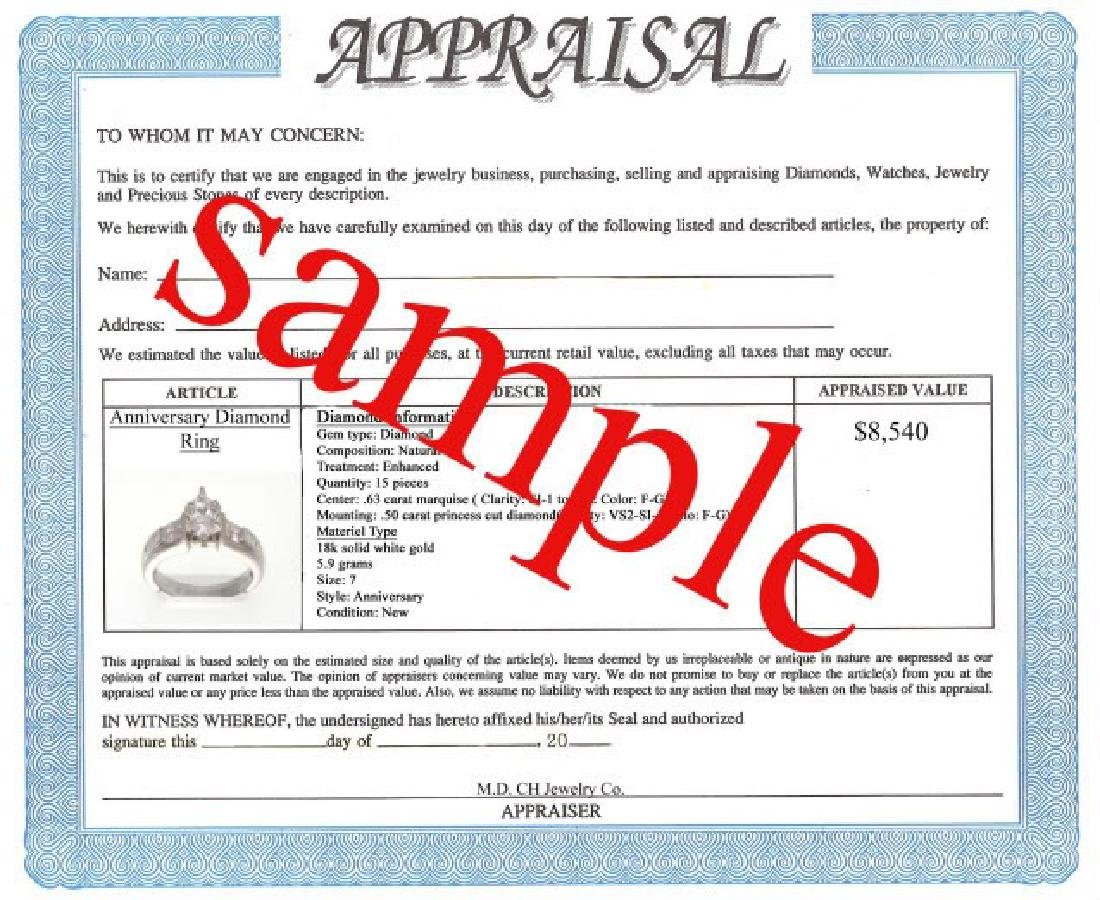 2.15 CT Natural Sapphire Diamond Ring Appraised $3,800 - 3