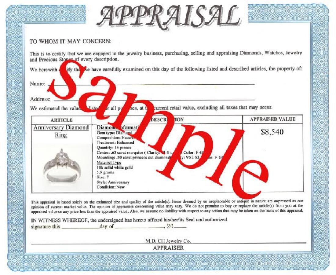 2.10 CT Yellow Sapphire Diamond Ring Appraised $4,300 - 3