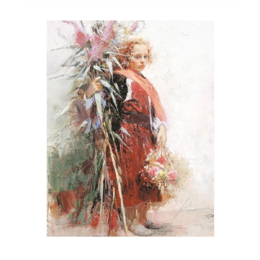 "Pino ""Flower Child"" Ltd Ed. Giclee on Canvas"