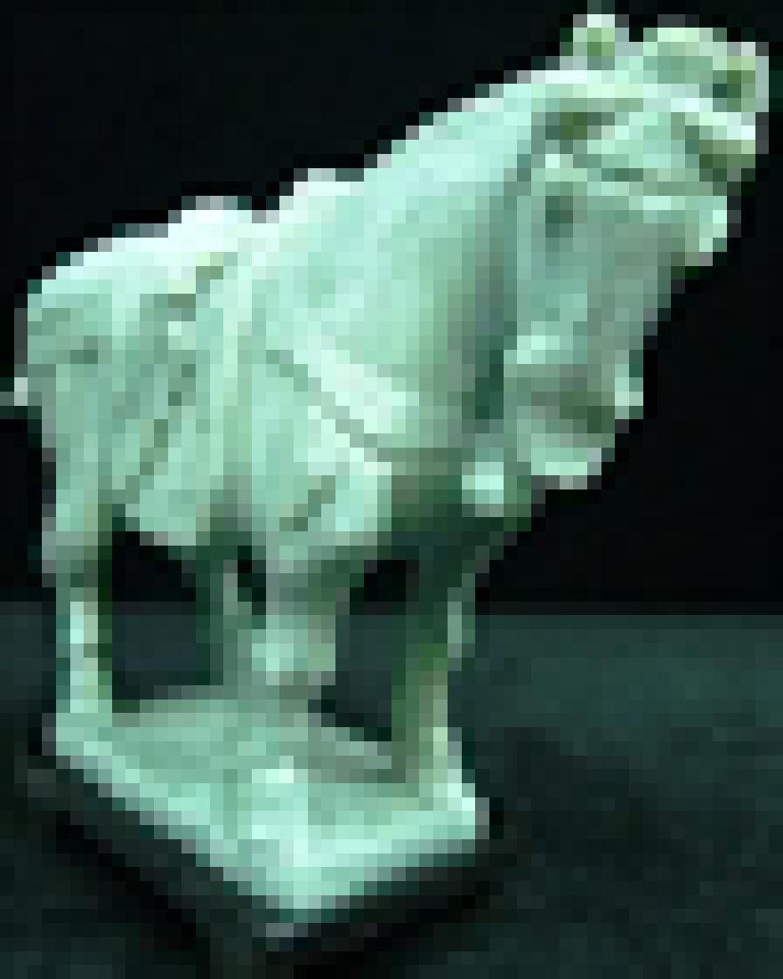 REAL JADE SADDLED TANG HORSE - 2