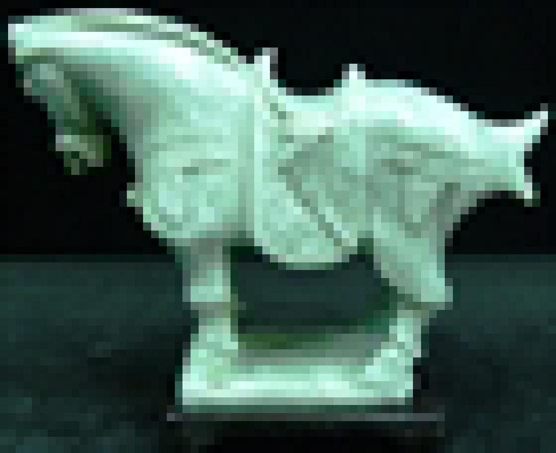 REAL JADE SADDLED TANG HORSE - 4