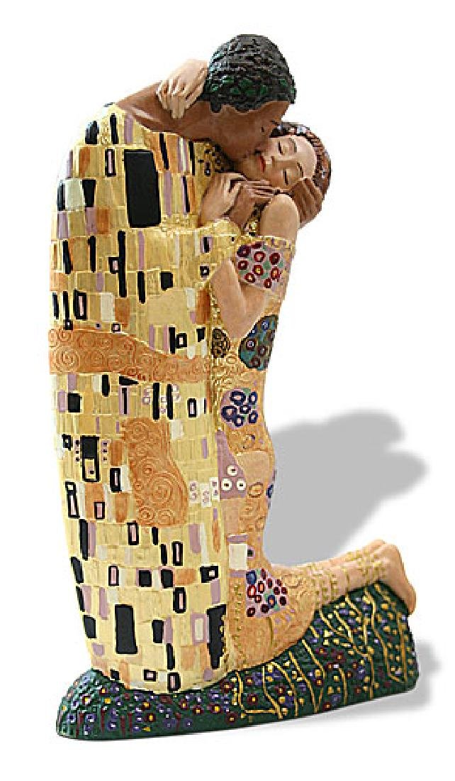 Gustav Klimt THE KISS Sculpture