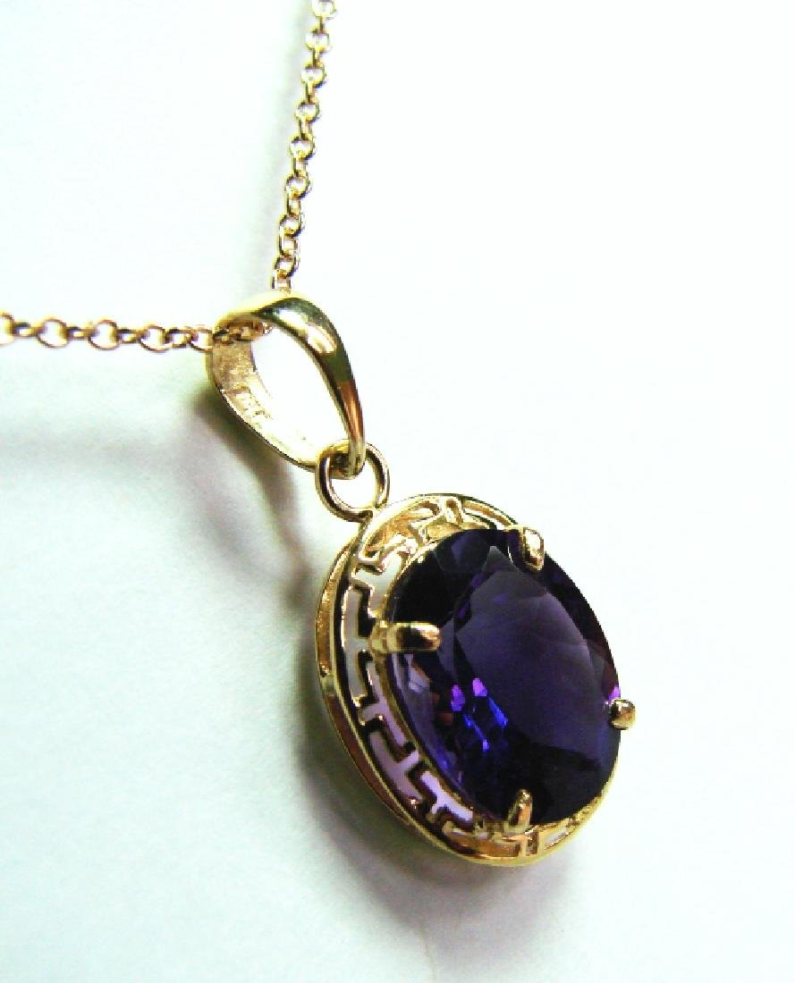 3.10 CT Amethyst Pendant Appraised at $3,000