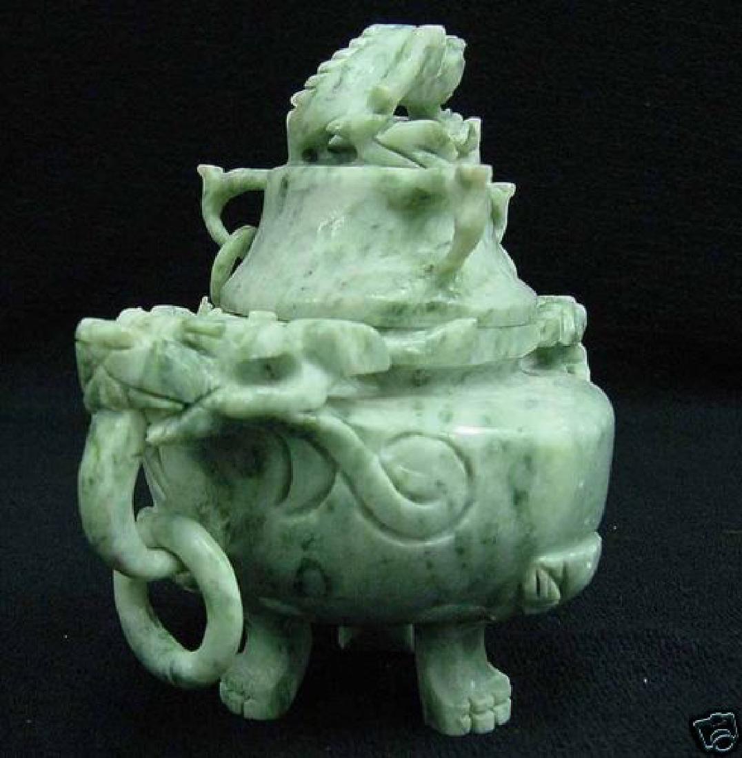Royal Antique Jade Incense Burner - 3