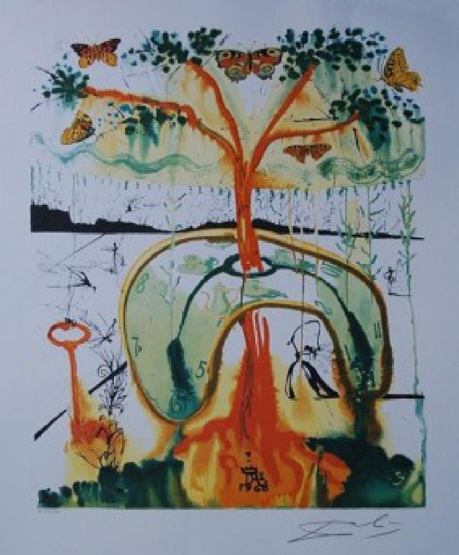 Dali Lithograph MAD TEA PARTY