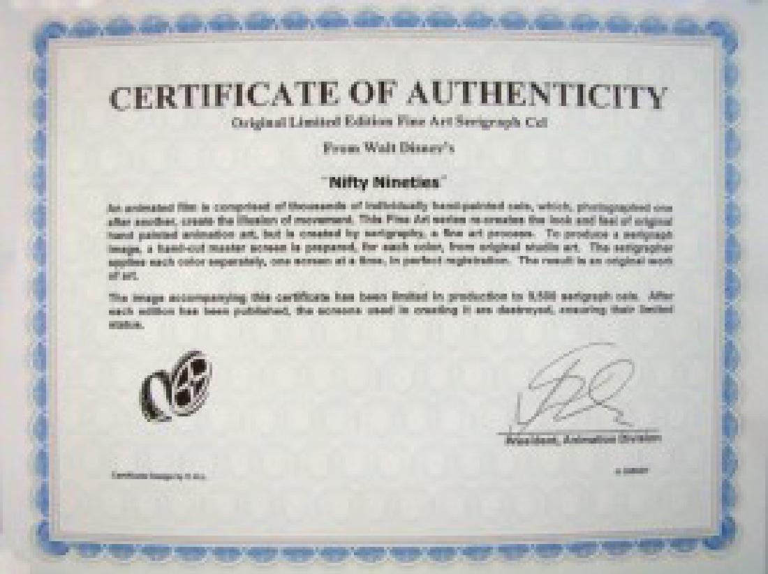 DISNEY MICKEY & MINNIE Nifty 90's Orig Art Sericel - 2