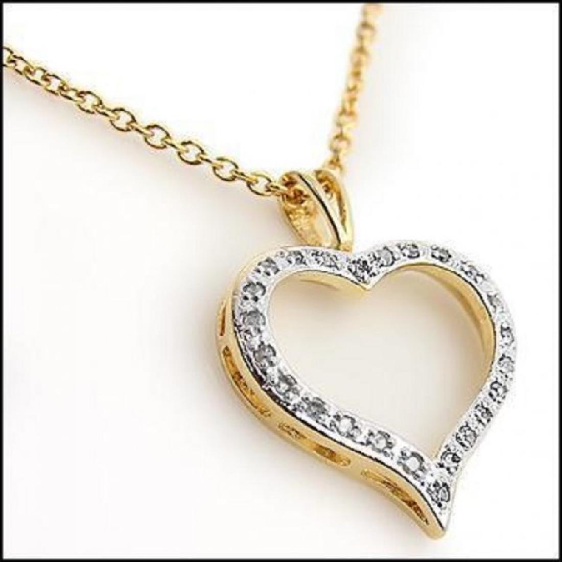 0.46 CT Diamond Heart Designer Necklace $775