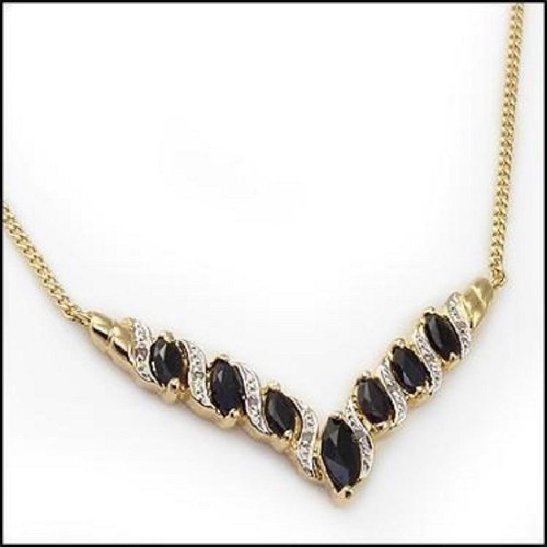 6.92 CT Sapphire & Diamond Designer Necklace MSRP $1120