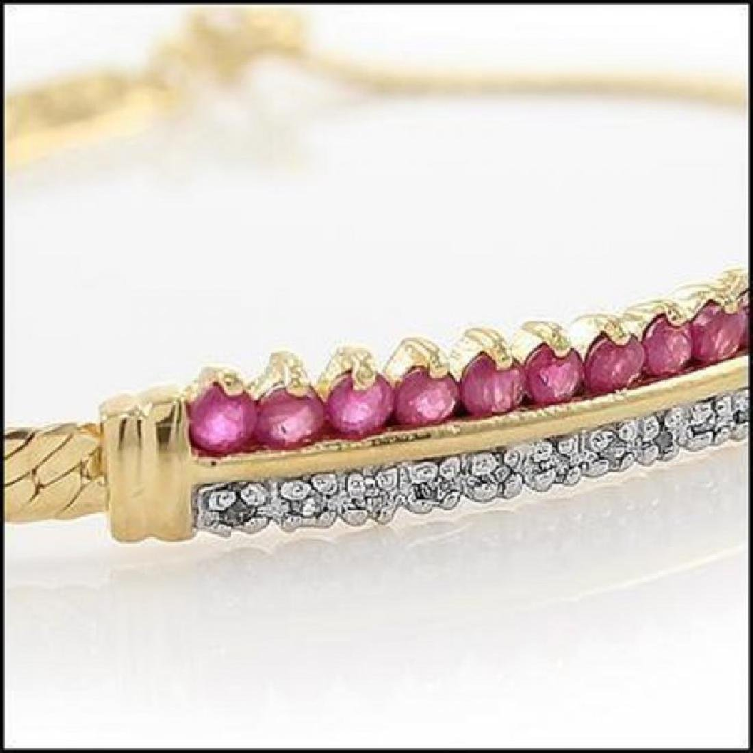 3.39 CT Ruby & Diamond Designer Bracelet $960 - 2