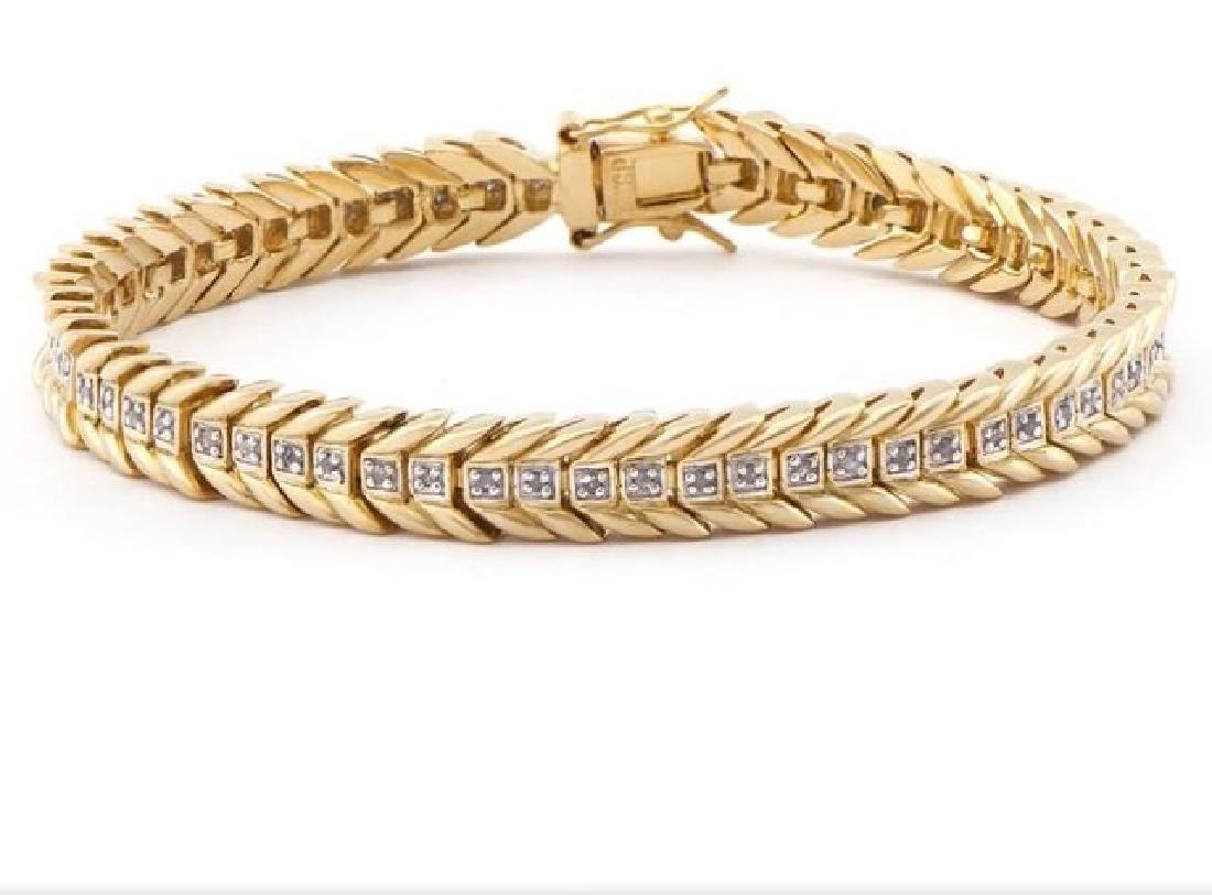 0.96 CT Diamond Designer Fine Bracelet MSRP $1,385