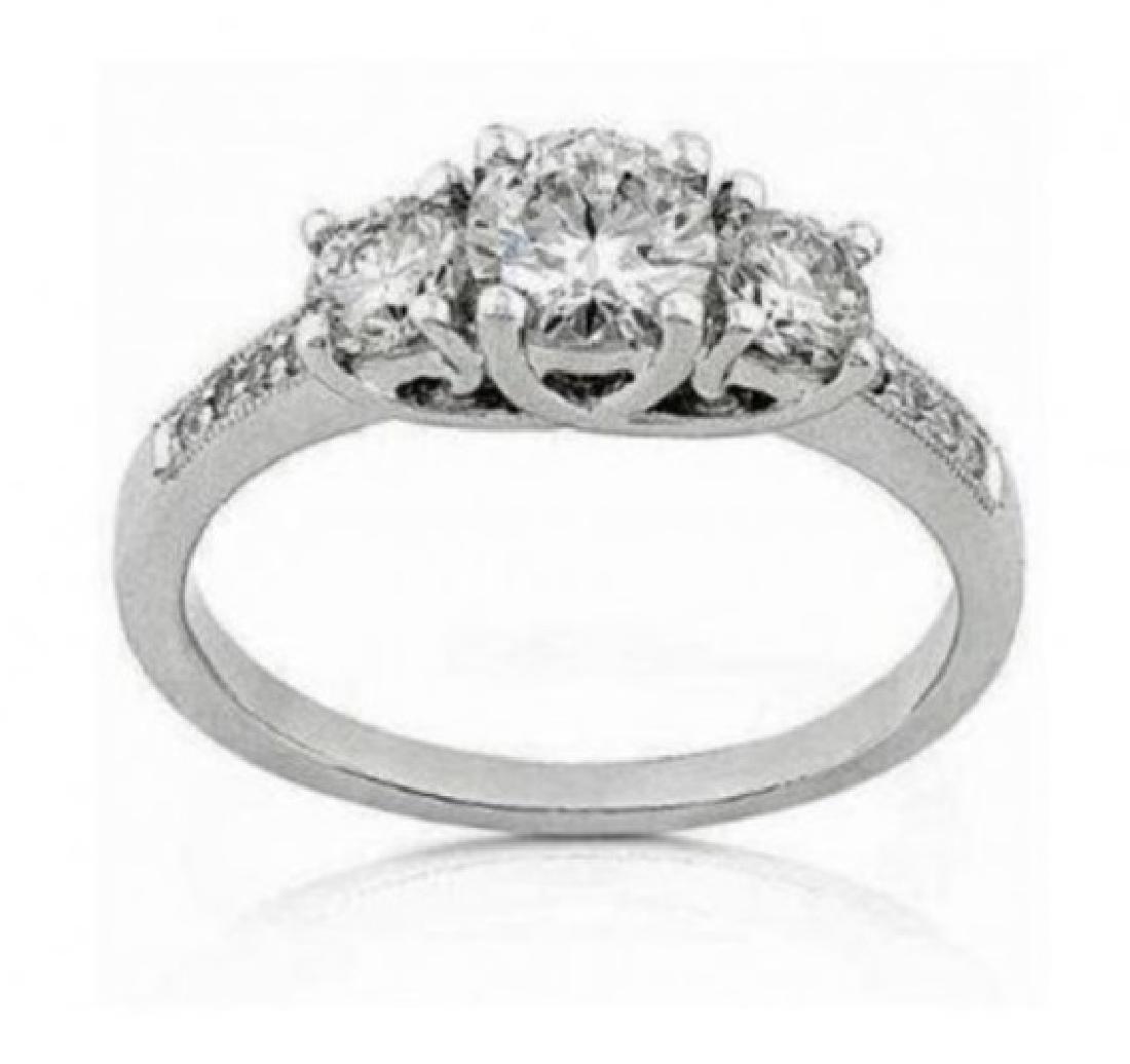1.19 Cts Certified Diamond 14K Designer Engagement Ring