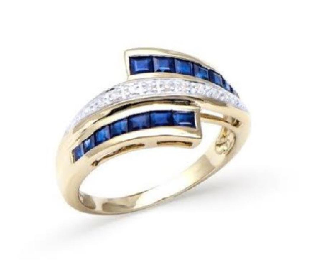 1CT Blue Sapphire Diamond Ring Appraised at $6,017.00