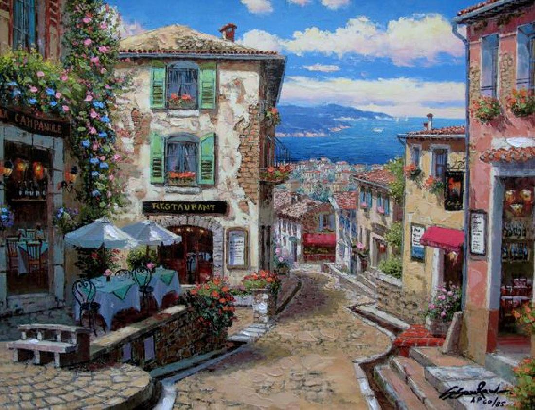 Sam Park RENDEZVOUS IN NICE Hand Signed Ltd Ed. Giclee
