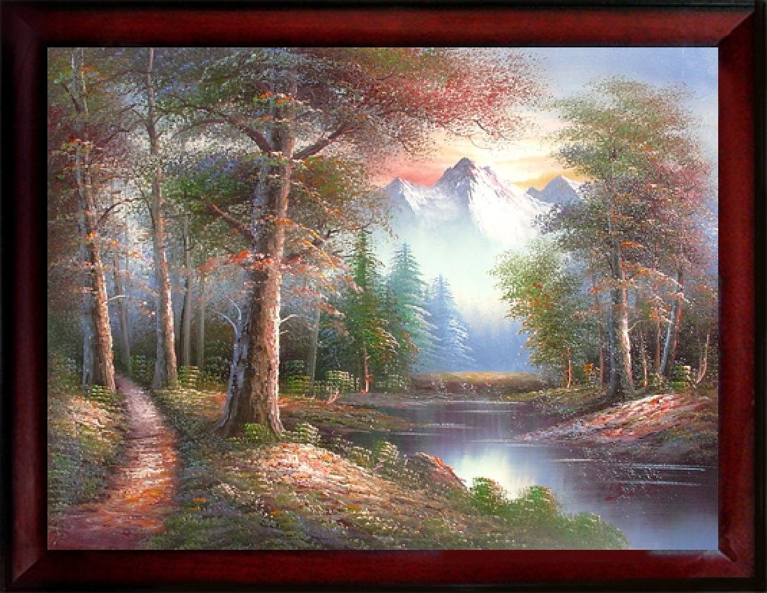 Hand Signed Hand Made Oil Painting,  Bear Mountain