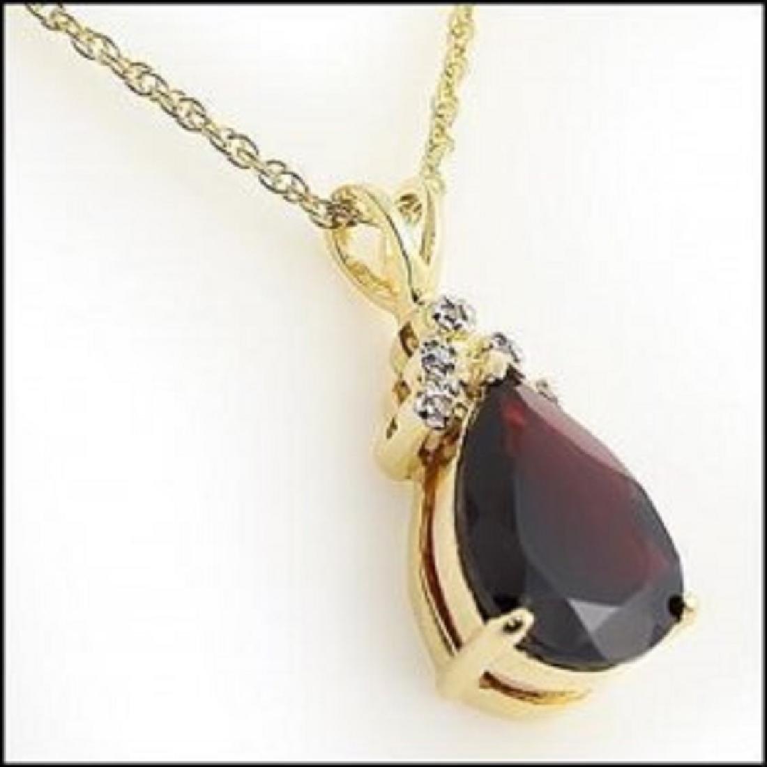 5.38 CT Garnet & Diamond Designer Necklace
