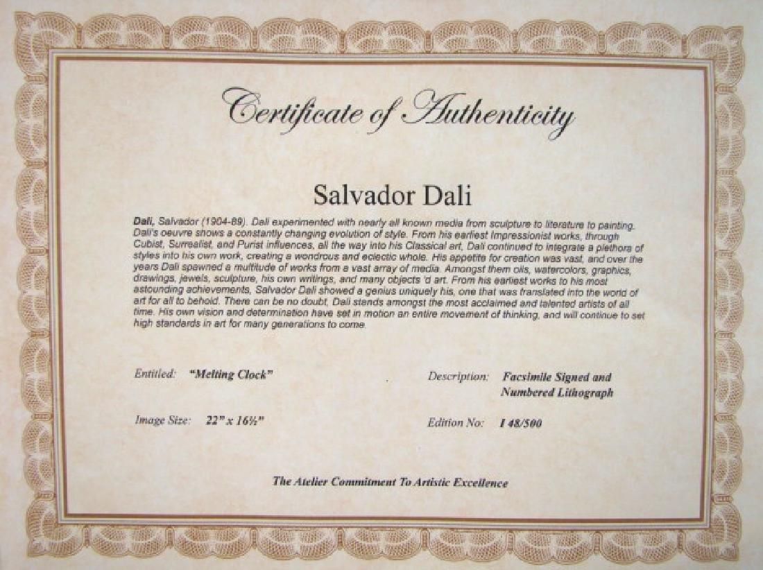 Salvador Dali Lithograph MELTING CLOCKS - 2