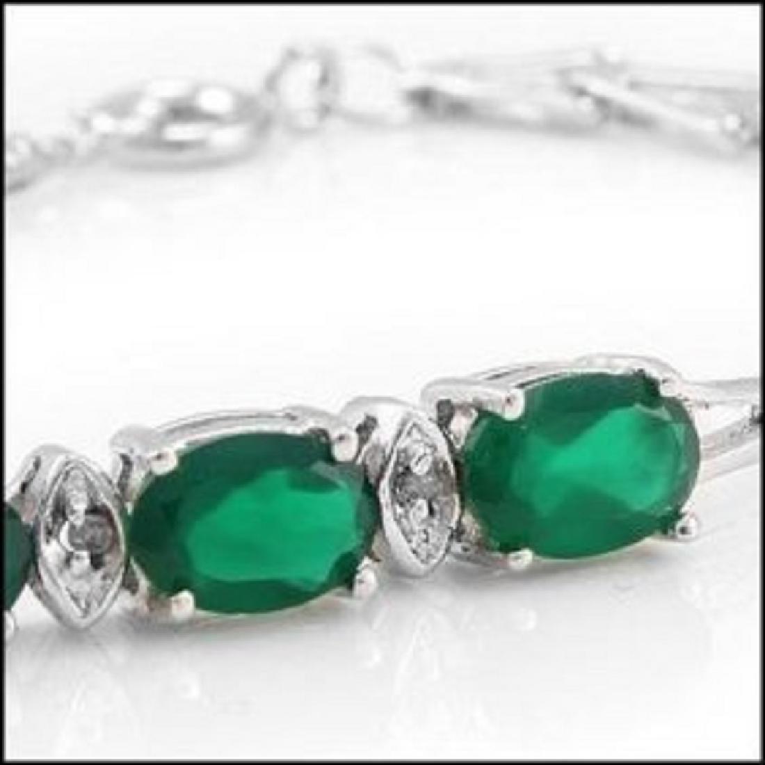 4.39 Ct Green Agate & Diamond Designer Bracelet - 2