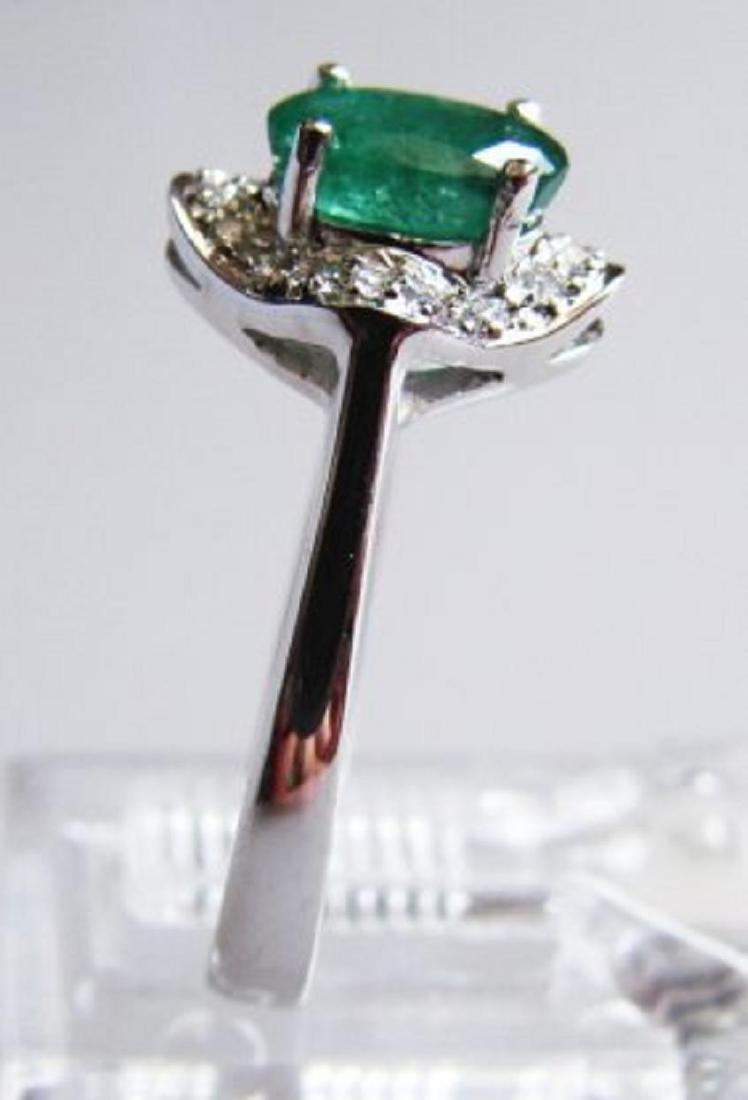 Columbia Emerald & Diamond Ring Appraised $7,700 - 2
