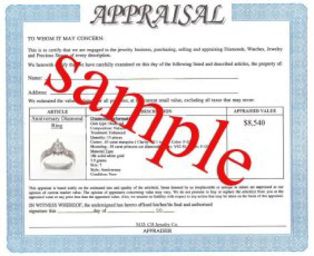 Columbia Emerald & Diamond Ring Appraised $7,700 - 3