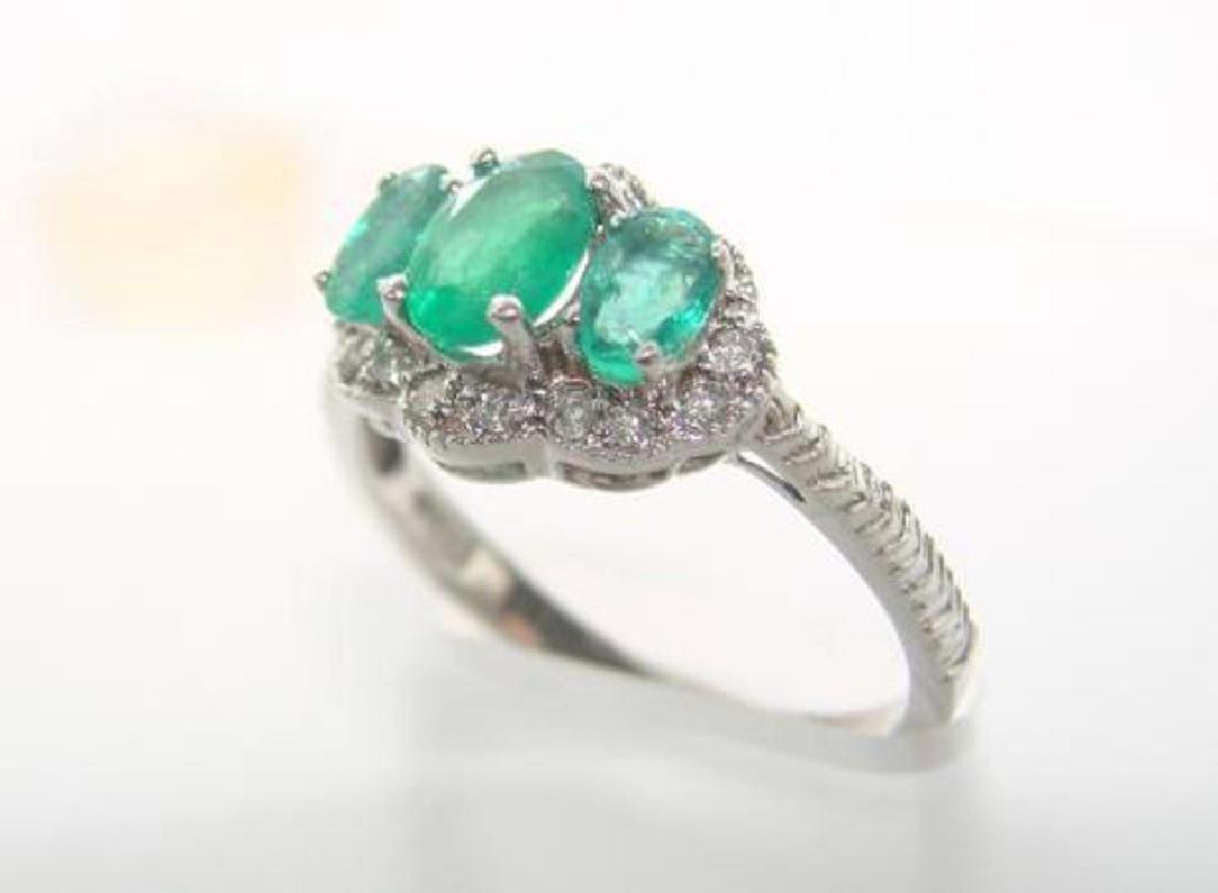 Columbia Emerald & Diamond Ring Appraised $10,270