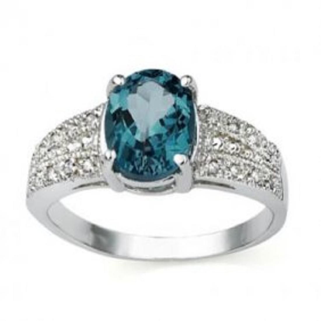 1.41 CT Certified Topaz & Diamond 14Kw Ring $4,170.00