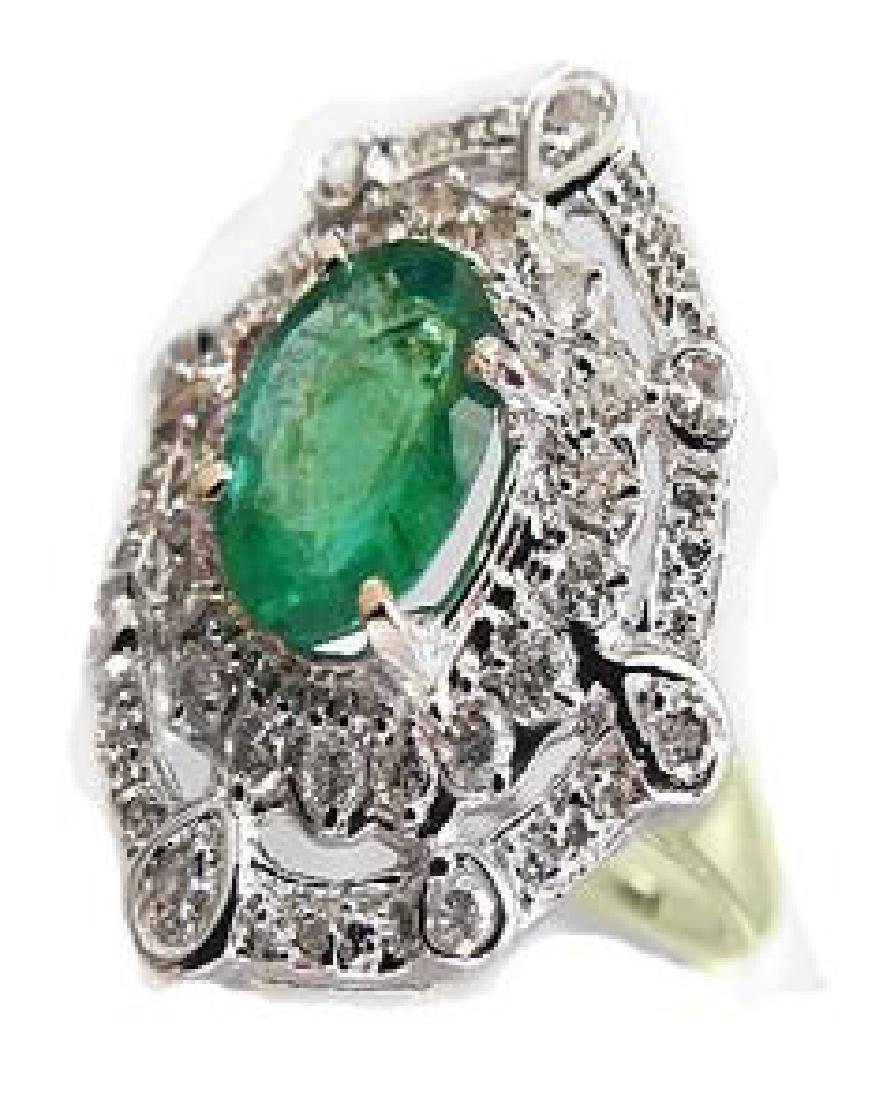 1.51 CT Emerald Diamond Ring Appraised $16,600
