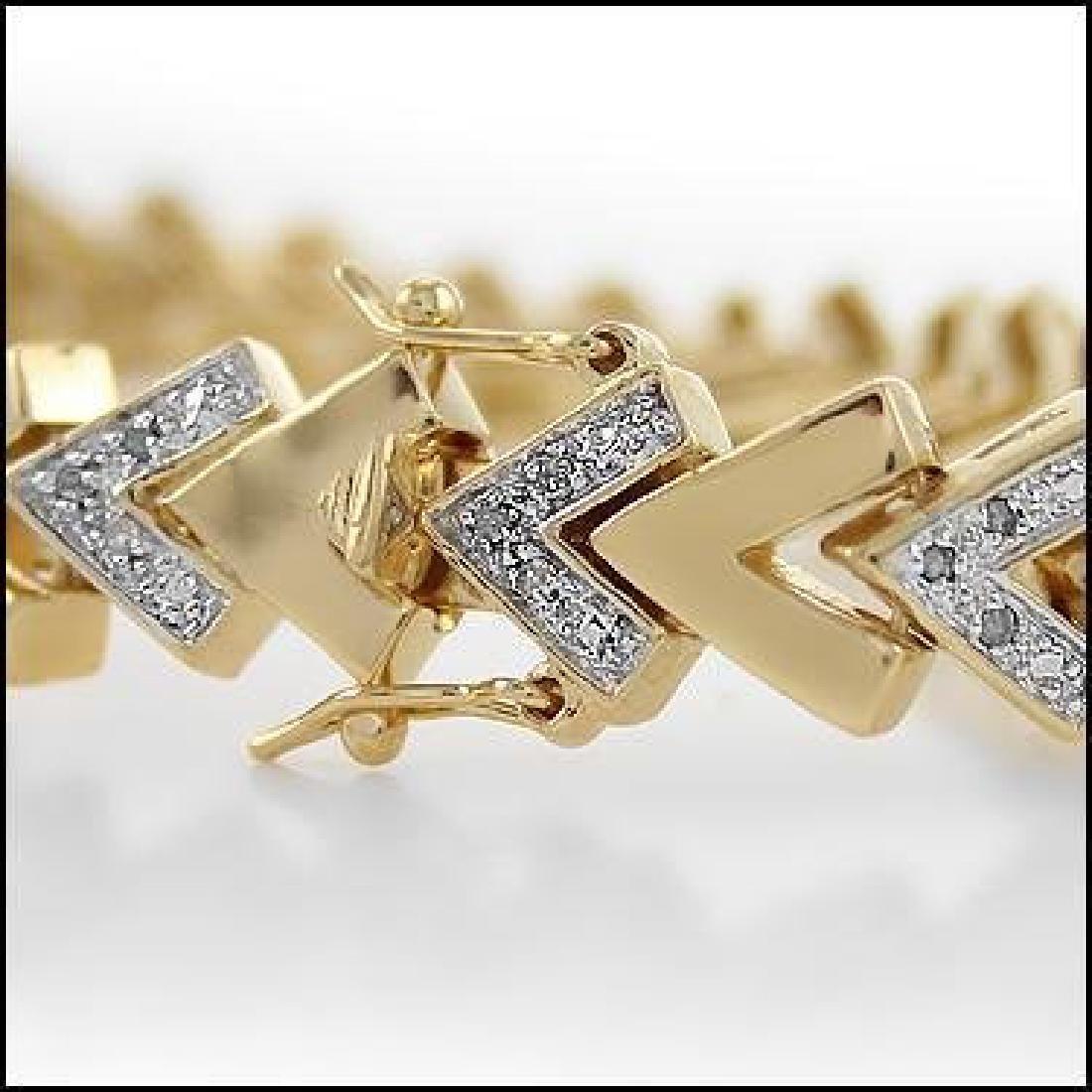 0.92 CTW Diamond Fine Designer Bracelet - 3