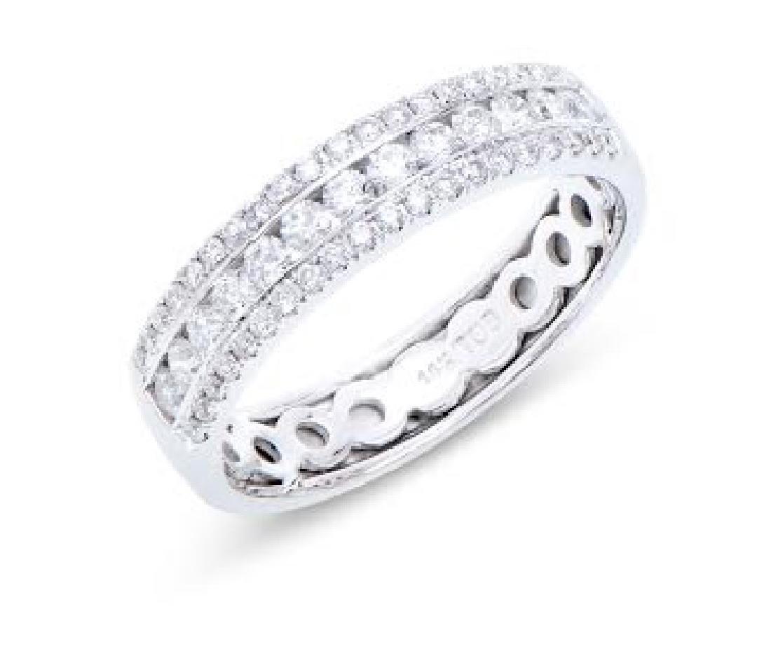 0.602 Cts Certified Diamond 14K Designer Gold Ring