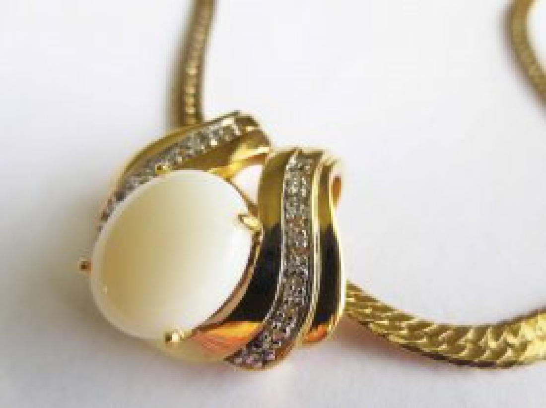 7.49 CTW Indian Opal & Diamond Designer Necklace - 2